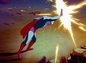 Screenshots from the 1941 Fleischer Studio cartoon Superman