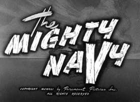 Screenshots from the 1941 Fleischer Studio cartoon The Mighty Navy