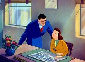 Screenshots from the 1941 Fleischer Studio cartoon The Mechanical Monsters