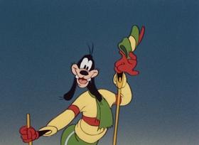 Screenshots from the 1941 Disney cartoon The Art of Skiing