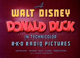 Screenshots from the 1941 Disney cartoon Chef Donald