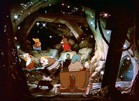 Screenshots from the 1941 Disney cartoon 7 Wise Dwarfs