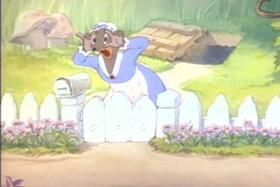 Screenshots from the 1941 MGM cartoon The Little Mole