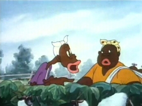 Screenshots from the 1941 MGM cartoon The Goose Goes South