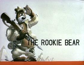 Screenshots from the 1941 MGM cartoon The Rookie Bear