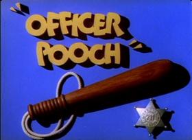 Screenshots from the 1941 MGM cartoon Officer Pooch