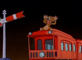 Screenshots from the 1941 MGM cartoon The Night Before Christmas