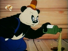 Screenshots from the 1941 Walter Lantz cartoon Mouse Trappers