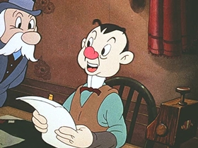 Screenshots from the 1941 Walter Lantz cartoon Hysterical High Spots in American History