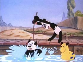 Screenshots from the 1941 Walter Lantz cartoon Dizzy Kitty