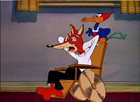 Screenshots from the 1941 Walter Lantz cartoon Woody Woodpecker