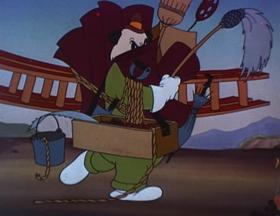 Screenshots from the 1941 Walter Lantz cartoon Andy Panda