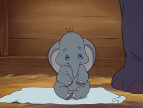 Screenshots from the 1941 Disney cartoon Dumbo