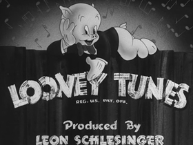 Screenshots from the 1942 Warner Brothers cartoon Porky