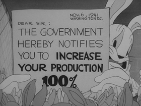 Screenshots from the 1942 Warner Brothers cartoon Who