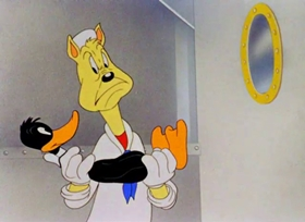 Screenshots from the 1942 Warner Brothers cartoon Conrad the Sailor