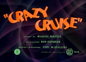 Screenshots from the 1942 Warner Bros. cartoon Crazy Cruise