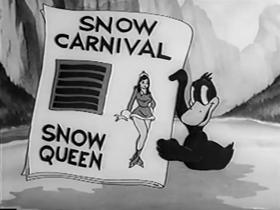 Screenshots from the 1942 Warner Brothers cartoon Daffy