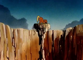 Screenshots from the 1942 Warner Brothers cartoon The Draft Horse