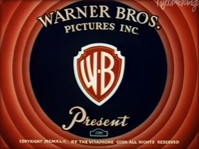 Screenshots from the 1942 Warner Brothers cartoon Double Chaser