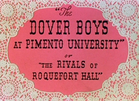 Screenshots from the 1942 Warner Brothers cartoon The Dover Boys at Pimento University