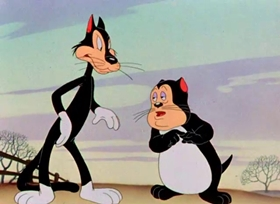 Screenshots from the 1942 Warner Brothers cartoon A Tale of Two Kitties