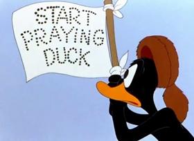 Screenshots from the 1942 Warner Bros. cartoon My Favorite Duck