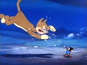Screenshots from the 1942 Terrytoons cartoon The Mouse of Tomorrow