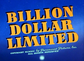 Screenshots from the 1942 Fleischer Studio cartoon Billion Dollar Limited