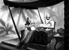 Screenshots from the 1942 Fleischer Studio cartoon Kickin