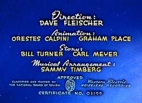 Screenshots from the 1942 Fleischer Studio cartoon The Bulleteers
