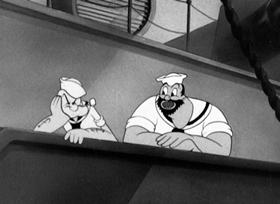 Screenshots from the 1942 Fleischer Studio cartoon Olive Oyl and Water Don