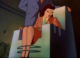 Screenshots from the 1942 Fleischer Studio cartoon Electric Earthquake