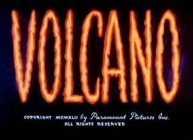 Screenshots from the 1942 Fleischer Studio cartoon Volcano