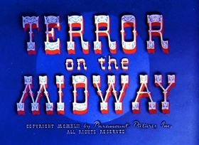 Screenshots from the 1942 Fleischer Studio cartoon Terror on the Midway
