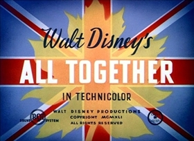 Screenshots from the 1942 Disney cartoon All Together