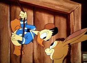 Screenshots from the 1942 Disney cartoon The Village Smithy