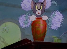 Screenshots from the 1942 MGM cartoon Fraidy Cat