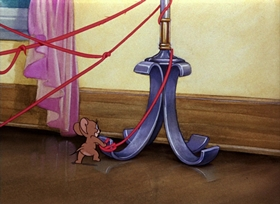 Screenshots from the 1942 MGM cartoon Dog Trouble