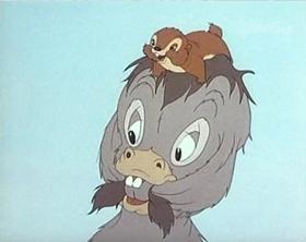 Screenshots from the 1942 MGM cartoon Little Gravel Voice