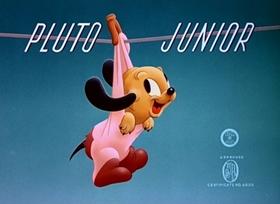 Screenshots from the 1942 Disney cartoon Pluto, Junior