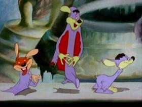 Screenshots from the 1942 MGM cartoon Bats in the Belfry