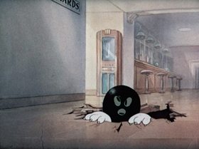 Screenshots from the 1942 MGM cartoon The Bowling Alley Cat