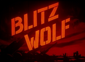 Screenshots from the 1942 MGM cartoon Blitz Wolf