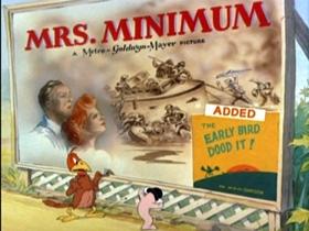 Screenshots from the 1942 MGM cartoon The Early Bird Dood It