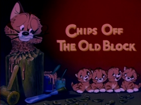 Screenshots from the 1942 MGM cartoon Chips Off the Old Block
