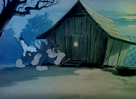 Screenshots from the 1942 MGM cartoon Fine Feathered Friend