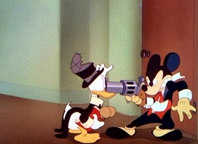 Screenshots from the 1942 Disney cartoon Symphony Hour