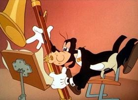 Screenshots from the 1942 Disney cartoon Symphony Hour