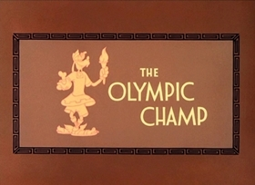 Screenshots from the 1942 Disney cartoon The Olympic Champ